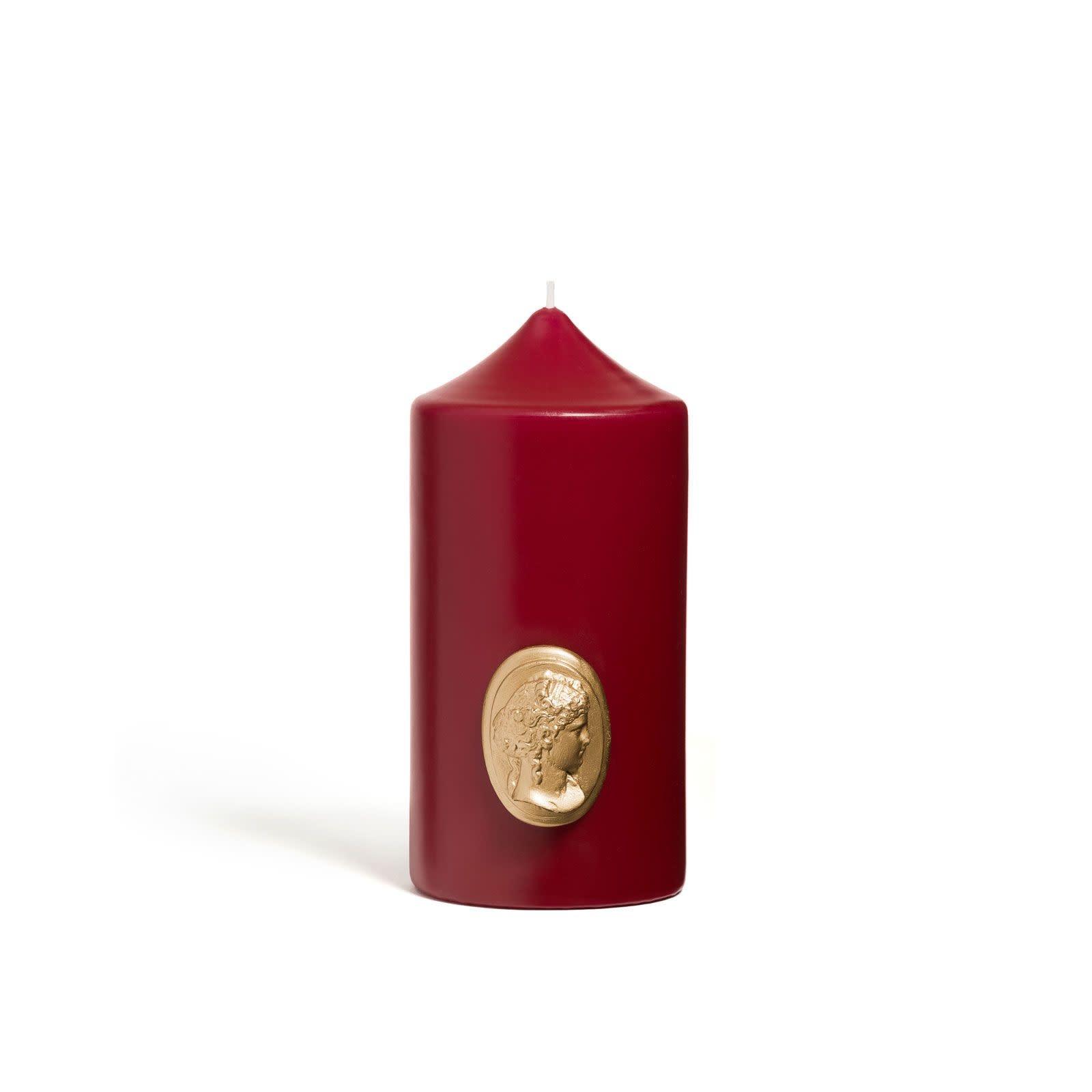 Candle Bordeaux & Gold 15cm-1