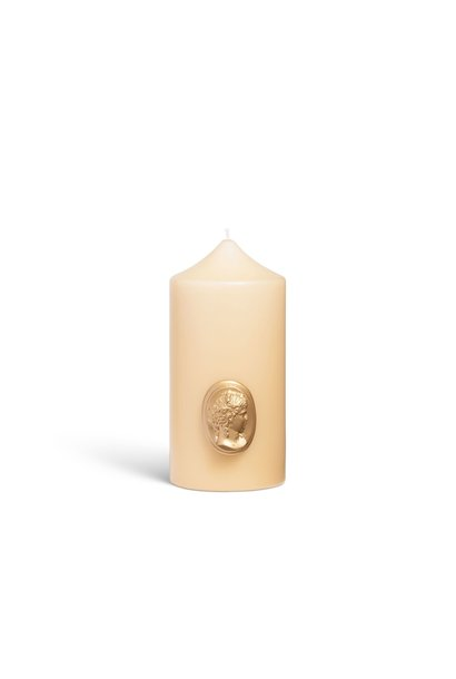 Candle Stone & Gold 15cm