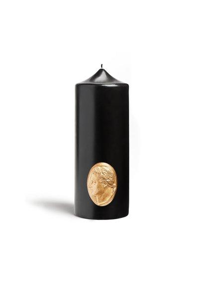 Cierge Imperial Noir & Or 25cm