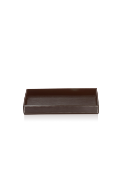 Tray Dark Brown Leather