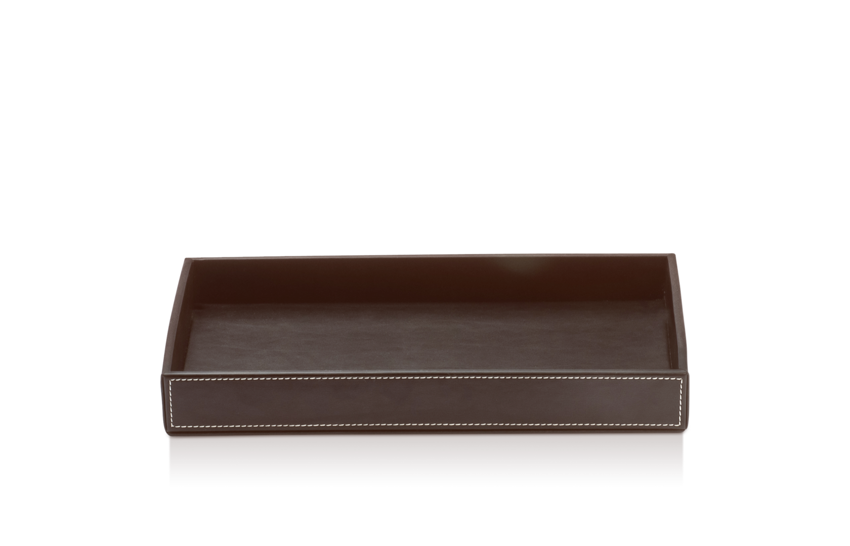 Tray Dark Brown Leather-1