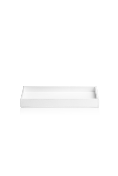 Tray White Leather