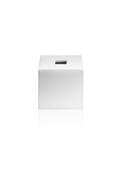 Boîte à Mouchoirs Cuir Blanc
