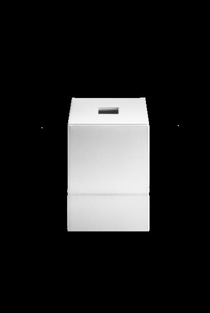 Tissue Box White Leather