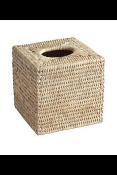 Tissue Box White Ceruse Fanchon Square
