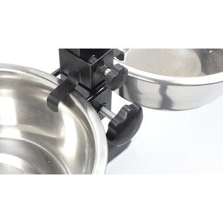 KLD  H-standaard met voer en drinkbak 21 cm 1.75  liter