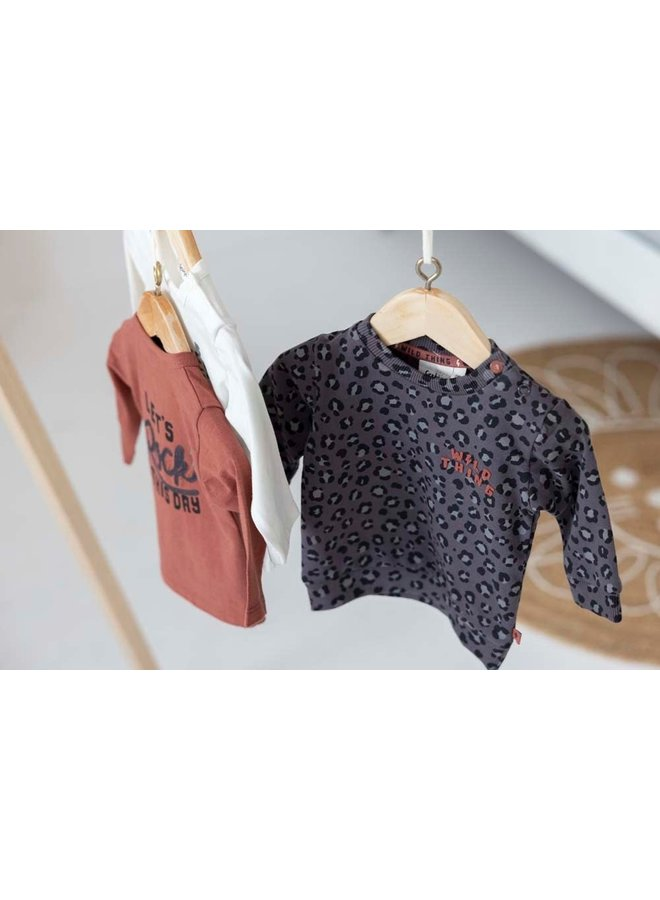 Sweater AOP - Wild Thing - Antraciet