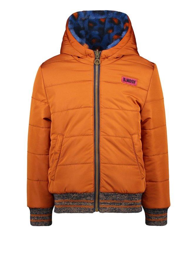 Girls short reversible jacket -  Camel