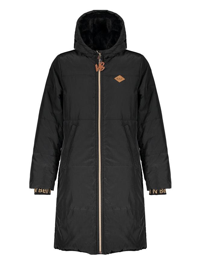 Baggy long baggy hooded jacket - Jet Black