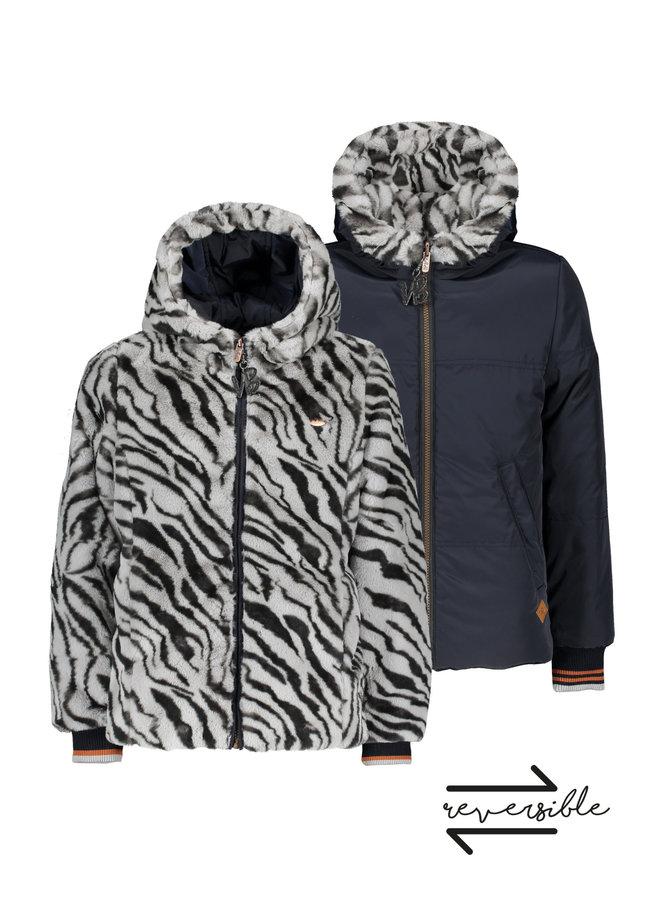 Boss straight reversible hooded jacket - Elephant