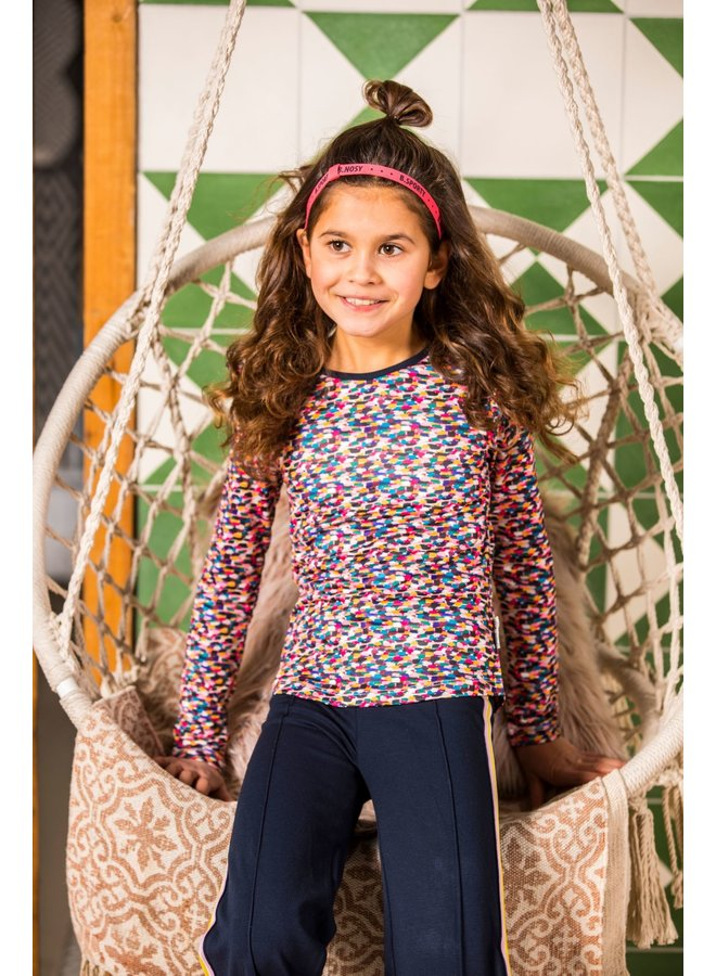 Girls sporty spickles ao t-shirt with ruffle around armhole - Sporty spickles