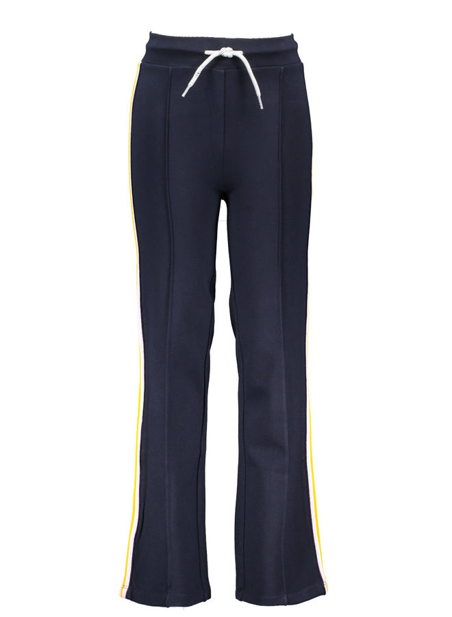 Girls straight sporty palazzo pants with tape on sideseam -  ink blue