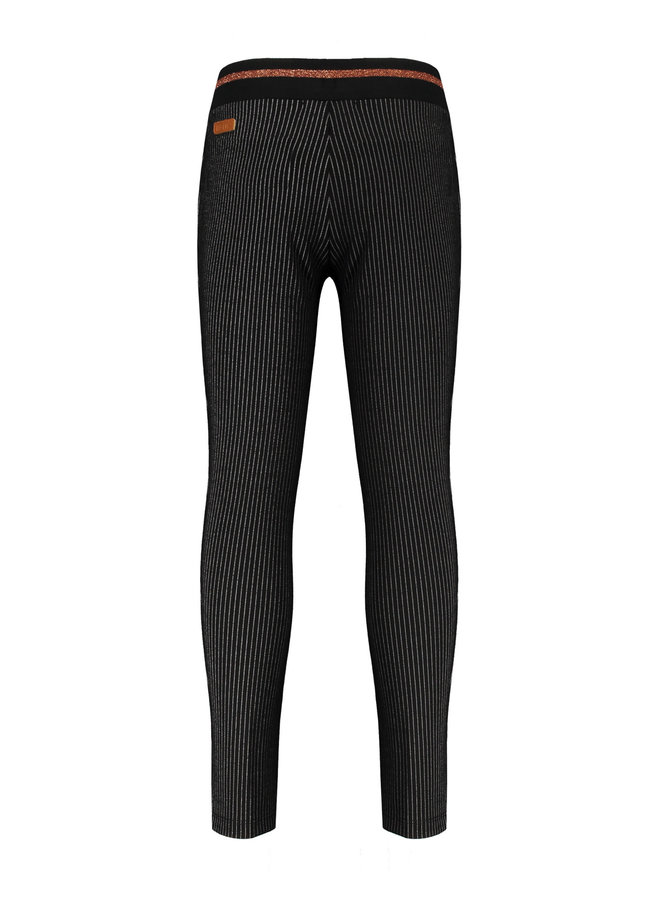 Secler pinstriped pants - Jet Black