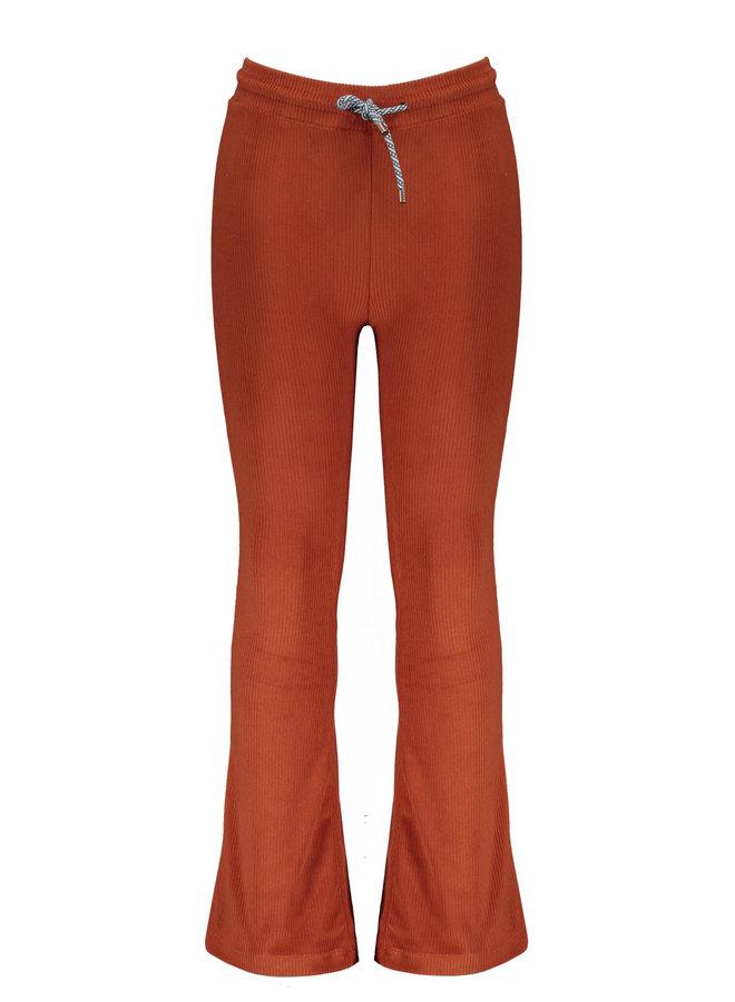 Sam velours flared pants - Rust
