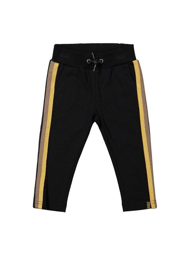 Girls Jogging trousers – Black + stripe