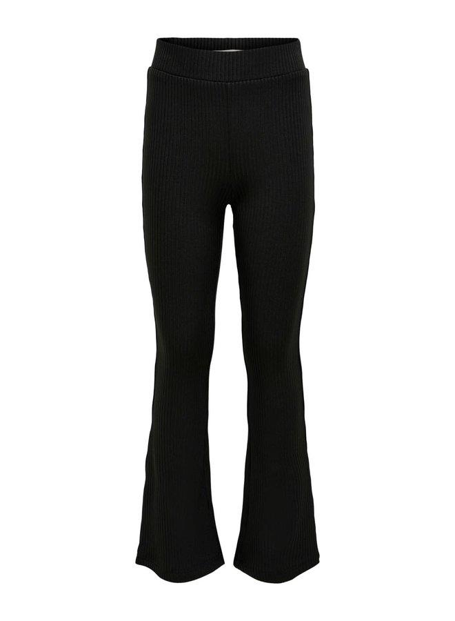 KONPAIGE FLARED SLIT PANT PNT - Black