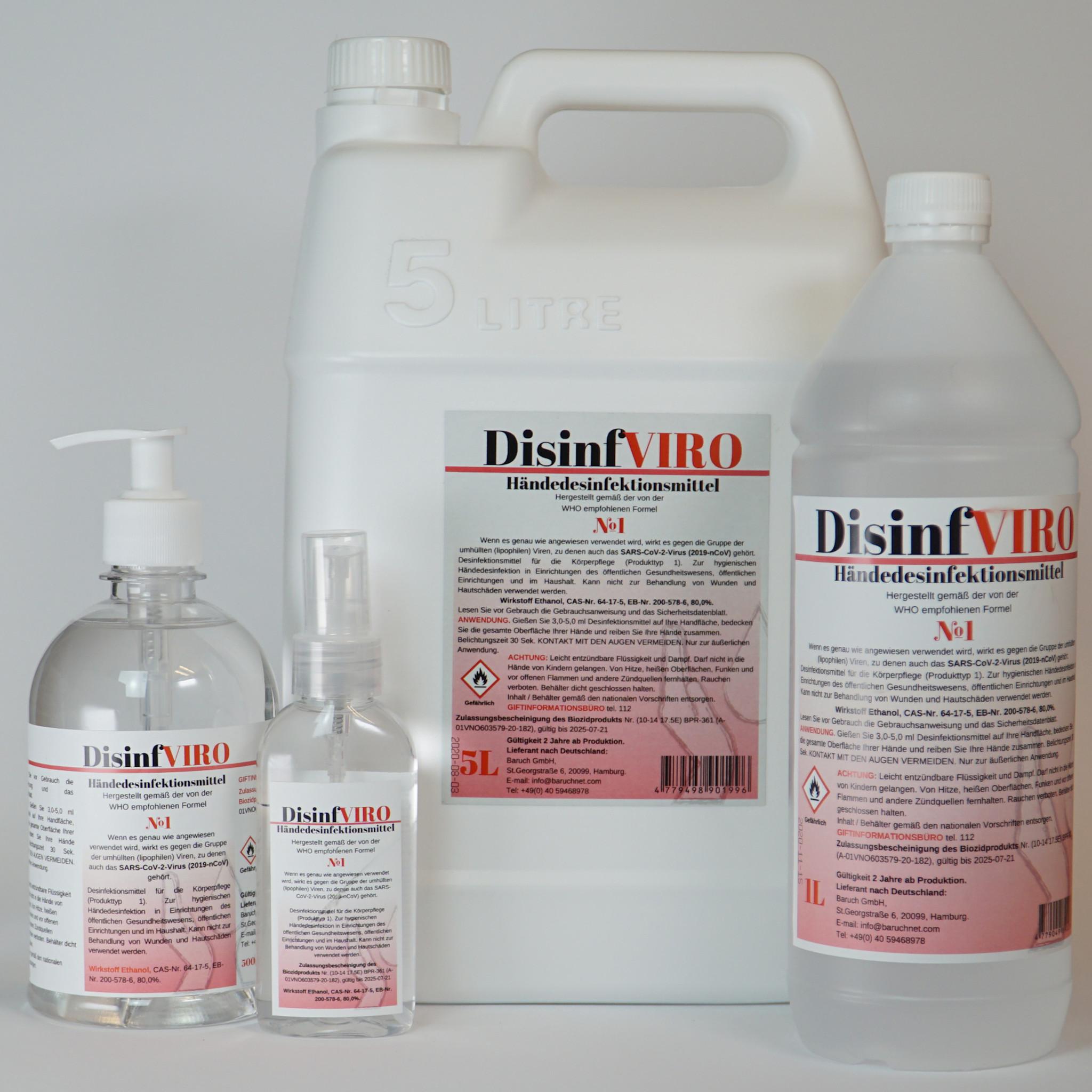Дезинфицирующее средство для рук DisinfVIRO
