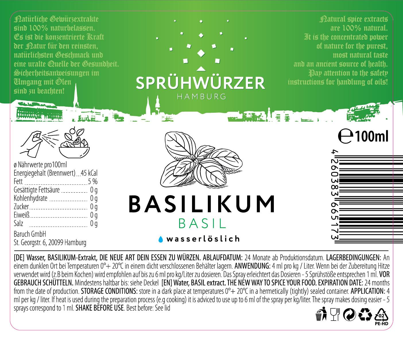 Basilikum-Extrakt 100ml