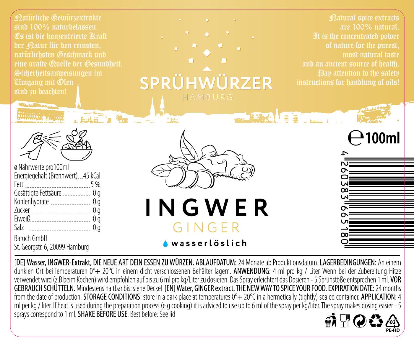 Ingwer-Extrakt 100ml