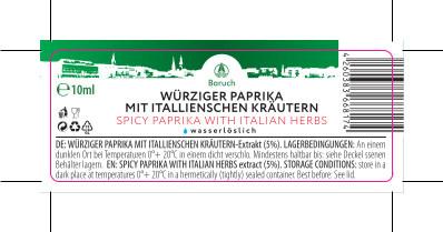 Würzige Paprika mit italienischen Kräutern-Extrakt 10ml