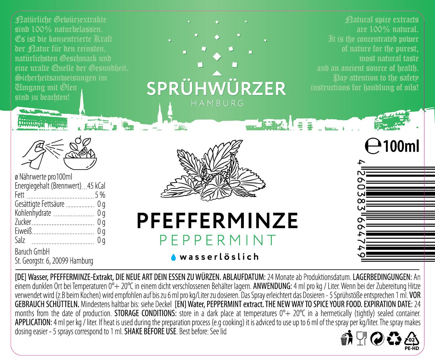 Pfefferminze-Extrakt 100ml