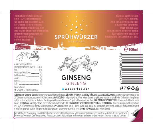 Ginseng-Extrakt 100ml