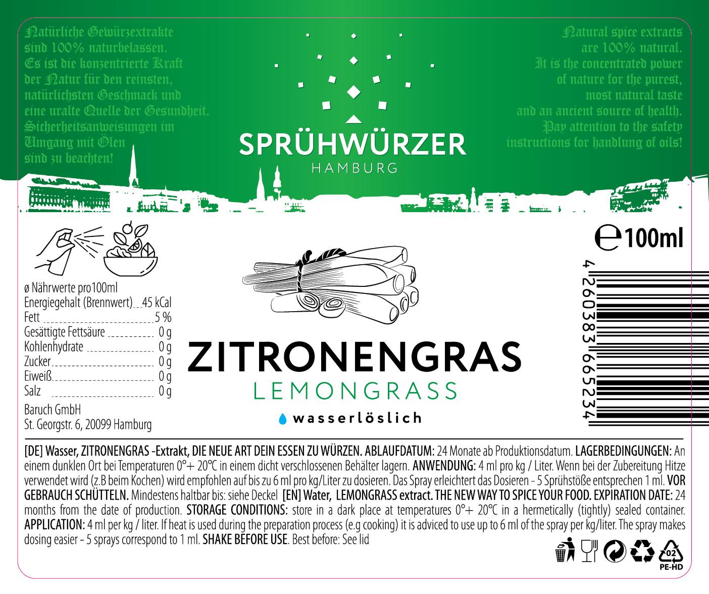Zitronengras-Extrakt 100ml