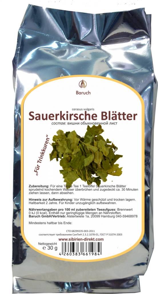 Sauerkirsche Blätter