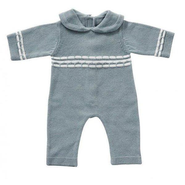 ByASTRUP Babypakje blauw gebreid 45cm