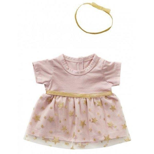 ByASTRUP Chique roze jurkje met haarband 45cm