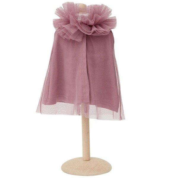 ByASTRUP Tule cape voor de pop paars/roze 45cm