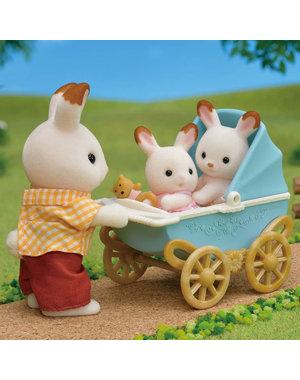 Sylvanian Families Set Tweeling Chocoladekonijn (kinderwagen)
