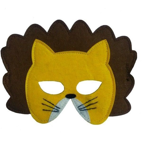 Mamamemo Vilten Masker Leeuw
