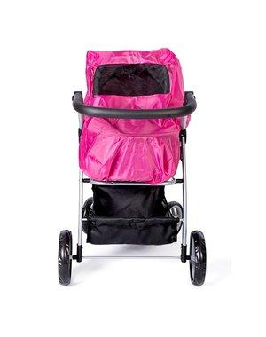 Minimommy Regenhoes voor poppenwagen roze