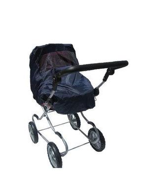 Minimommy Regenhoes voor poppenwagen zwart