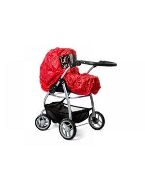 Minimommy Regenhoes voor poppenwagen rood