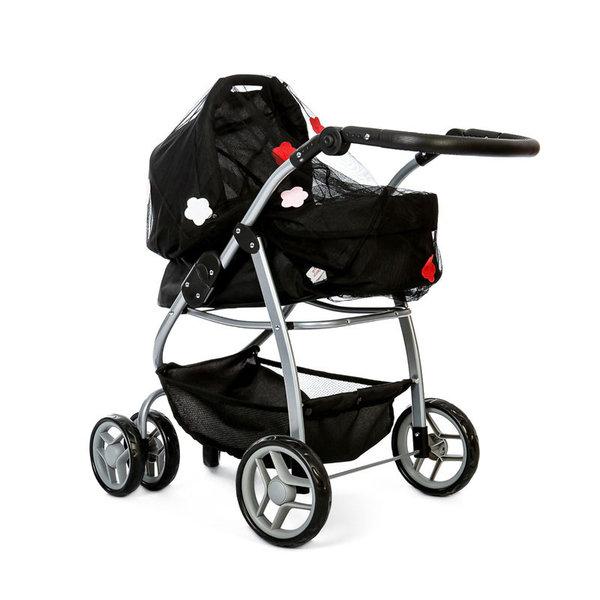 Minimommy Insectennet voor Poppenwagen zwart