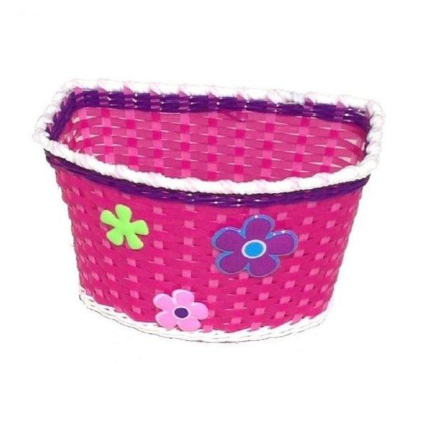 Minimommy Fietsmand voor kinderfiets roze