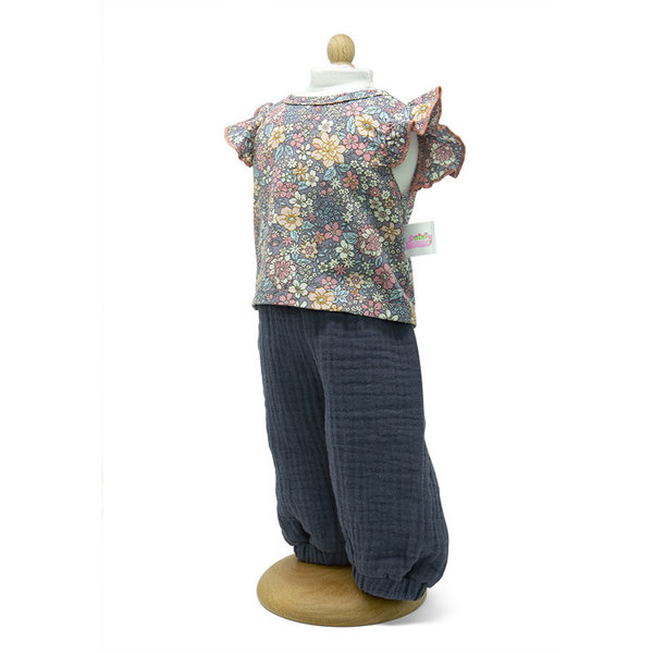 Minimommy Broek met gebloemde blouse 42-46cm