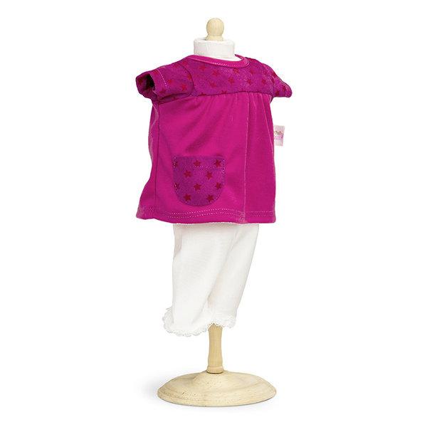 Minimommy Roze poppenjurkje met legging 42-46cm