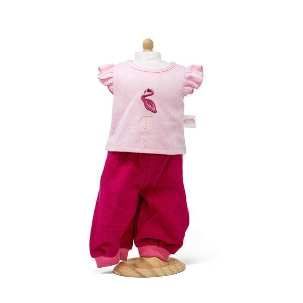 Minimommy Corduroy broek met roze t-shirt 42-46cm