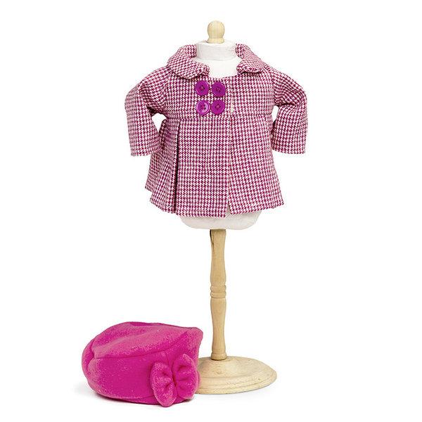 Minimommy Jas met hoed roze 33-37 cm