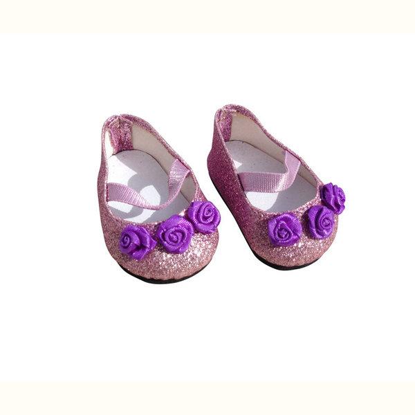 Minimommy Paarse glitterschoentjes 35-45cm
