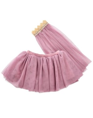 ByASTRUP Tule rok met sluier paars/roze 3-5 jaar