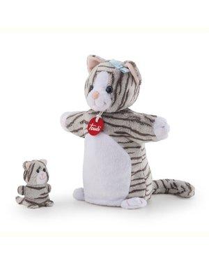 Trudi Handpop Kat 28 cm met Kitten