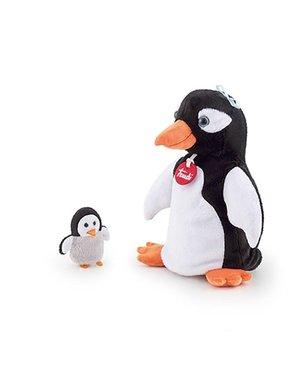 Trudi Handpop pinguin met baby 25cm