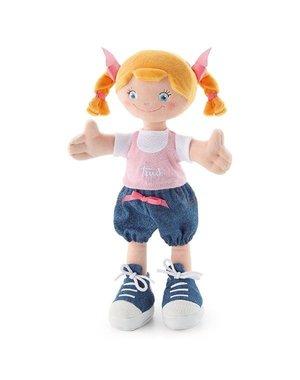Trudi Stoffen Pop Blond staartjes 30cm