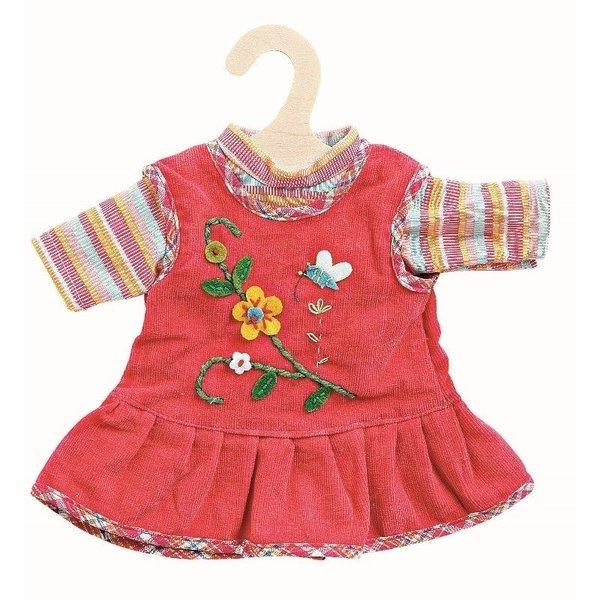 Heless Heless Kledingset jurk met bloem/ t-shirt 35-45 cm blauw