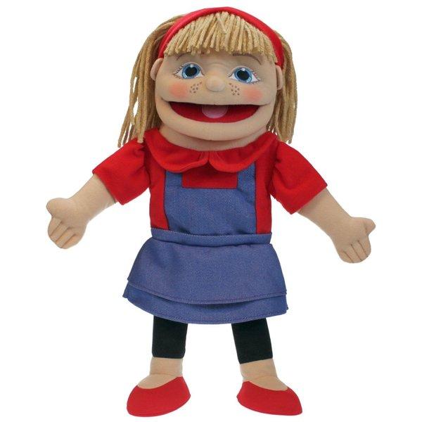 The Puppet Company Handpop meisje 40 cm blanke huidskleur