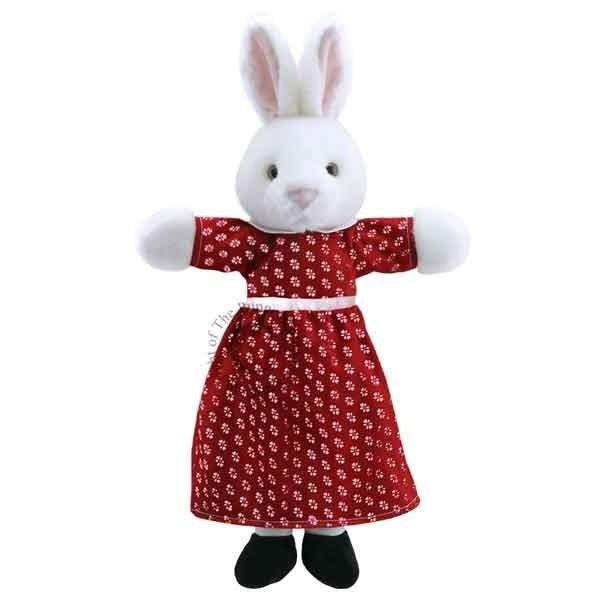 The Puppet Company Geklede handpop mevrouw Konijn 45cm